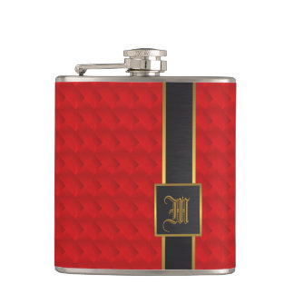 Flasques Rouge, or et cuir