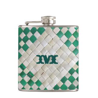 Flasques Série de monogramme : Armure de panier rustique du