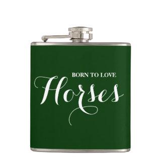 Flasques Soutenu pour aimer des chevaux