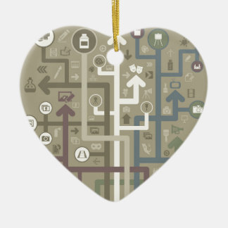 Flèche d'art ornement cœur en céramique