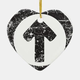 Flèche de cercle ornement cœur en céramique