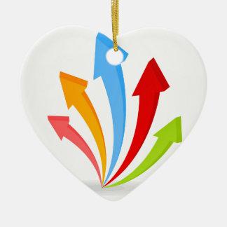 Flèche un icon6 ornement cœur en céramique