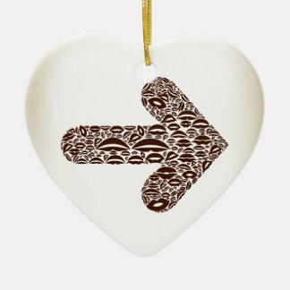 Flèche un lip2 ornement cœur en céramique