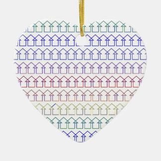 Flèches colorées par arc-en-ciel avec l'arrière - ornement cœur en céramique