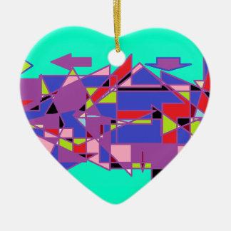 flèches ornement cœur en céramique