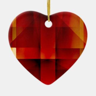 Flèches rouges abstraites ornement cœur en céramique
