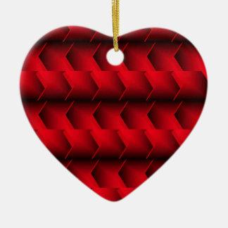 Flèches rouges ornement cœur en céramique