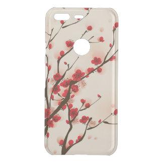 Fleur asiatique de prune de peinture de style au coque uncommon google pixel