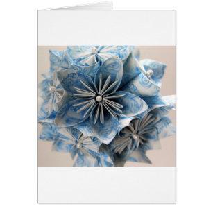 Fleur bleue d'origami de Kusudama