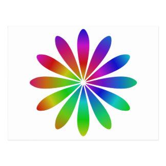 Fleur d'arc-en-ciel carte postale