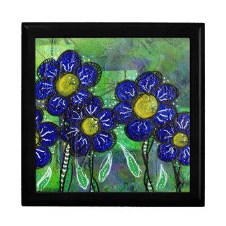 Fleur de ballon bleue de griffonnage coffrets cadeaux