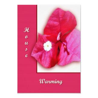Fleur de bouganvillée carton d'invitation  12,7 cm x 17,78 cm