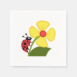 Fleur de coccinelle serviettes en papier
