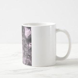fleur de couleur avec noir et blanc mug blanc