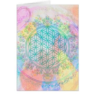 Fleur de DES Lebens de la vie/Blume - aimez les Carte