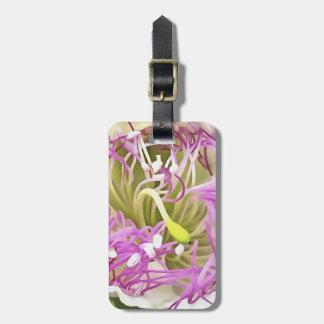 Fleur de fleur de câpre étiquette à bagage