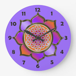 FLEUR DE LA VIE - lotus violet + nombres de visage