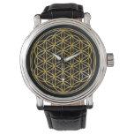 Fleur de la vie - or montres cadran