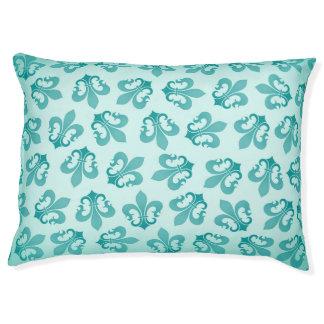 Fleur-DE-lis groene het bedWintertaling van het Hondenbedden