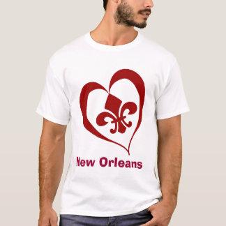 Fleur De Lis Heart, la Nouvelle-Orléans T-shirt