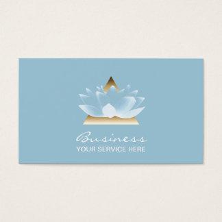 Fleur de Lotus bleu élégante de thérapie de Cartes De Visite