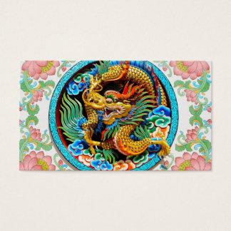 Fleur de lotus colorée chinoise fraîche de cartes de visite