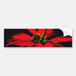 Fleur de Noël Autocollant De Voiture
