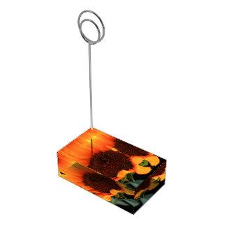 Fleur de tournesol porte-cartes de  table