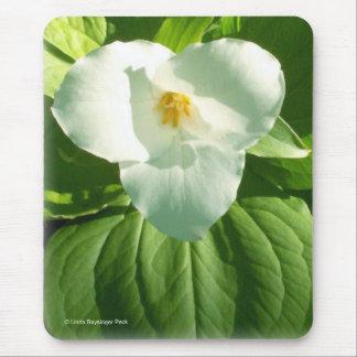 Fleur de Trillium plus étroite Tapis De Souris