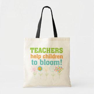 Fleur d'enfants d'aide de professeurs sac en toile budget