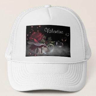 Fleur et casquette de coeurs