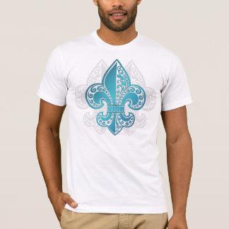 Fleur floral bleu #3 t-shirt