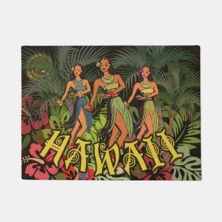 Fleur florale de porte d'Hawaï de tapis