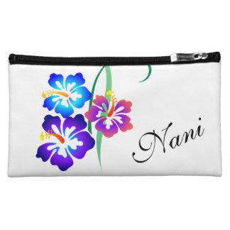 Fleur hawaïenne Nani de ketmie beau Trousses À Maquillage