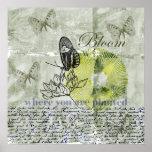 Fleur inspirée de papillon posters