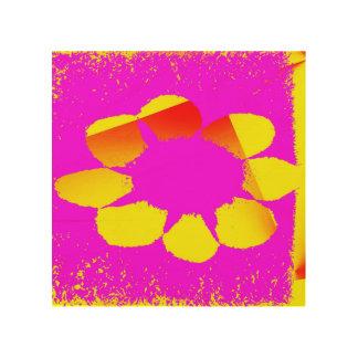 fleur jaune impression sur bois