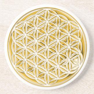 Fleur Live/complètement d'or Dessous De Verres