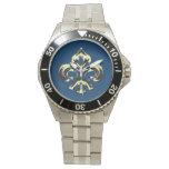 Fleur métallique de lis (or) montres