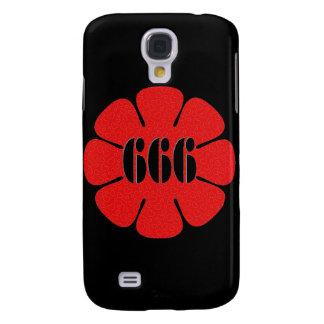 Fleur mignonne du rouge 666 coque galaxy s4