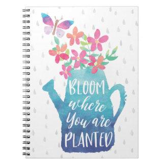 Fleur où vous êtes plantés carnets