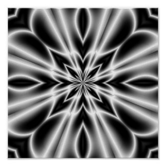 Fleur psychédélique de rayon X Affiches