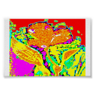 Fleur psychédélique poster