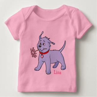 Fleur rose de chiot - T-shirt de Longsleeve de