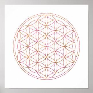 Fleur sacrée de la géométrie de la vie (V-Coucher Poster