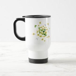 Fleur - tasse verte de voyage d'hortensia
