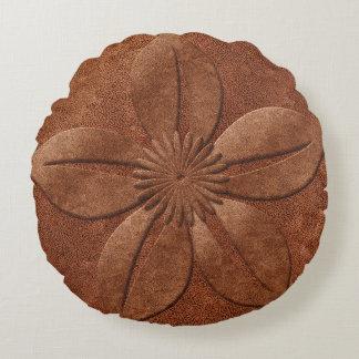 Fleur texturisée de vieille de style lumière coussins ronds