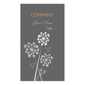 Fleur unique professionnelle moderne élégante carte de visite standard