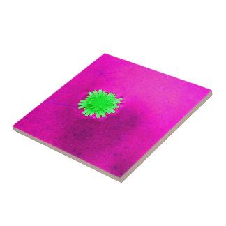 Fleur vert clair solitaire carreau en céramique