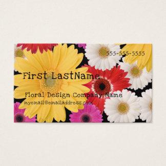 Fleuriste ou carte de visite floral de concepteur