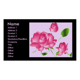 """""""Fleuriste rose de lavande rose profil d'I"""" Carte De Visite"""